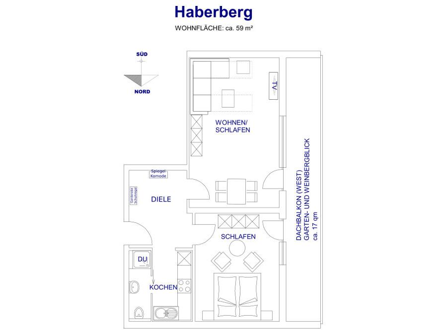 Heldes Ferienwohnung Haberberg - Grundriss