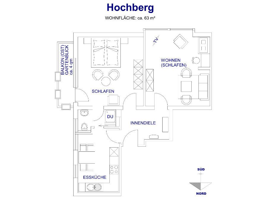 Heldes Ferienwohnung Hochberg - Grundriss