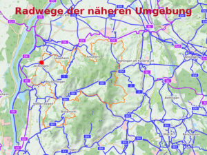 Radwegenetz der Region (Auszug)